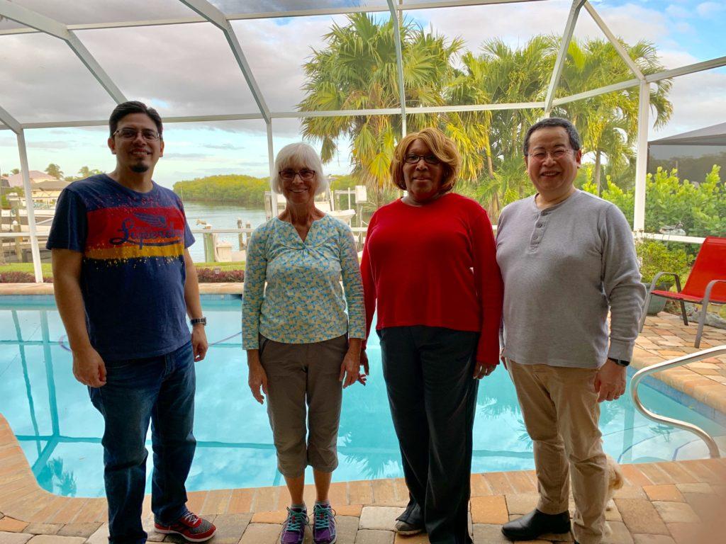 Rev. Ozuna, Mary Tracy Sigman, Lanni Fain and Rev. Kodaka